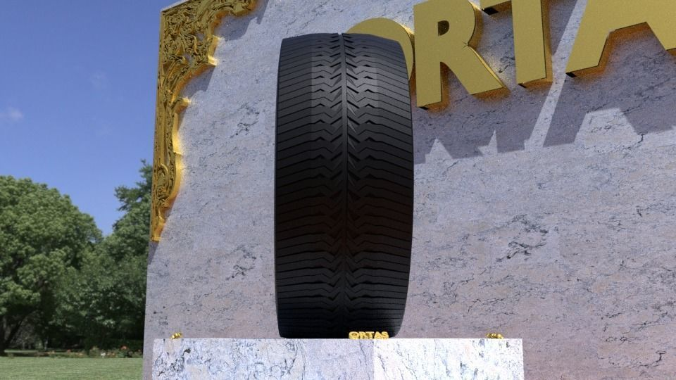 ORTAS TIRE NO 39 GAME READY AND 3D PRINTABLE