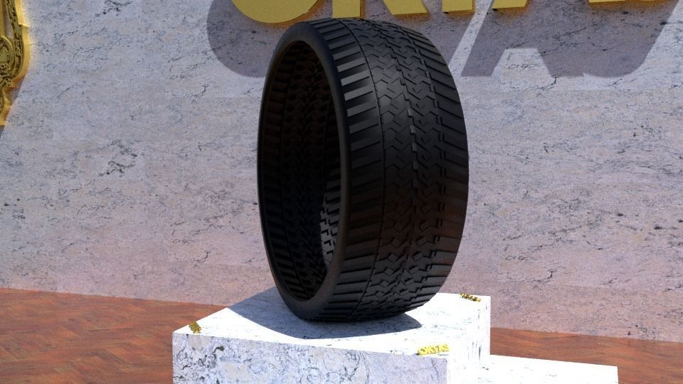 ORTAS TIRE NO 42 GAME READY AND 3D PRINTABLE
