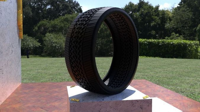 ortas tire no 43 game ready and 3d printable 3d model obj mtl fbx stl 1