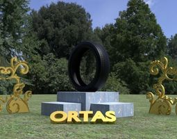 3D asset ORTAS TIRE PACK 1 INCLUDING 5 GAME READY TIRES