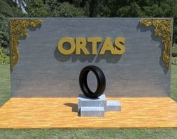 ORTAS TIRE PACK 3 INCLUDING 5 GAME READY TIRES 3D model