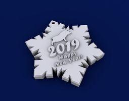 3D print model Happy new year 2019