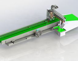 Adjustable distance conveyor for loading and 3D model 1