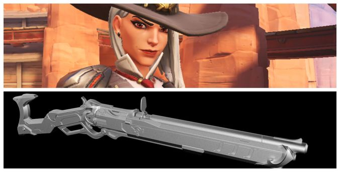 ashe s winchester 3d printing files cosplay 3d model stl 1