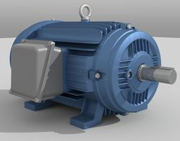 Industrial Electric Motor 3D asset
