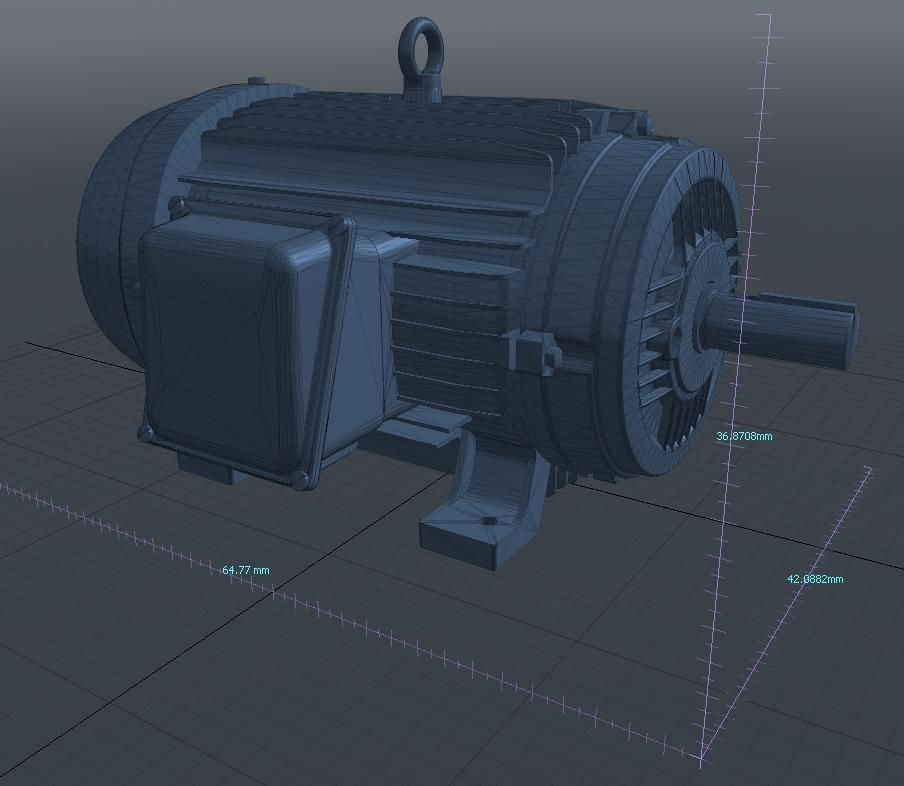 3d Model Industrial Electric Motor Vr Ar Low Poly Obj