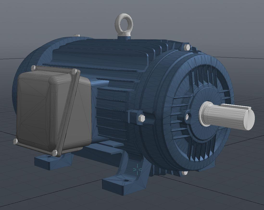3d Model Industrial Electric Motor Vr Ar Low Poly Obj