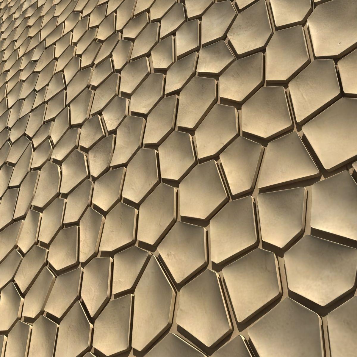 3d Wall Surfaces : D surface arido wall tiles mosaic model max obj ds