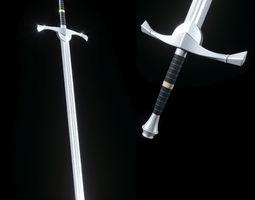 3D asset Steel sword