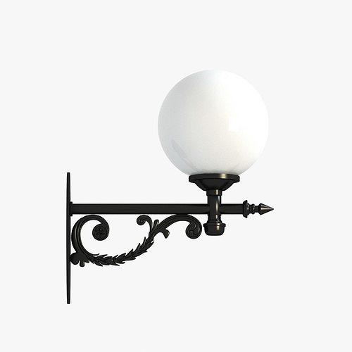 classic street wall lantern 3 3d model max obj mtl 3ds fbx unitypackage prefab 1