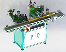 Double-sided labeling machine 3D model