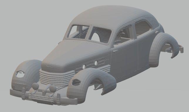 cord 812 - 1937 printable body car 3d model max stl 1