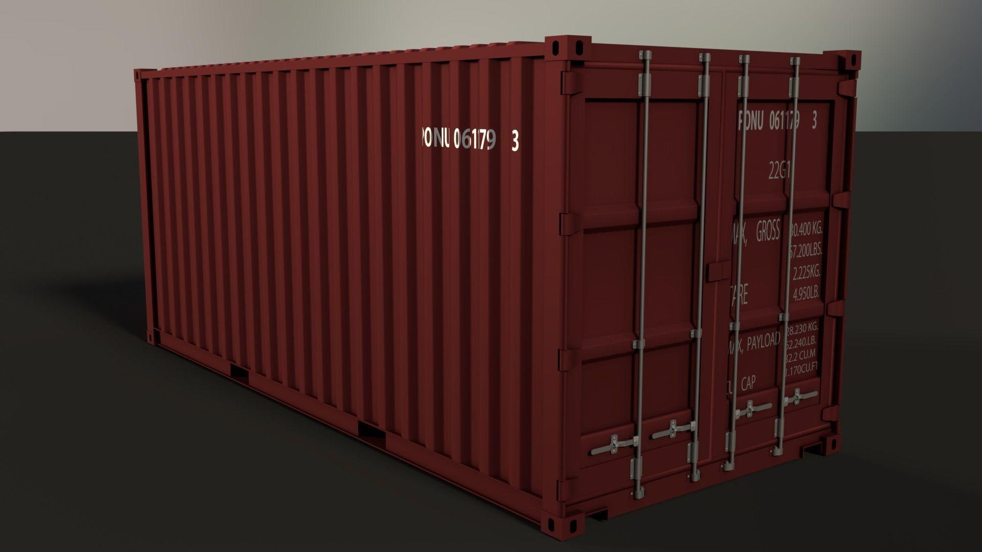 20ft Shipping Container >> 20ft Shipping Container 3d Model