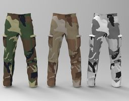 Military Pants package 3D asset