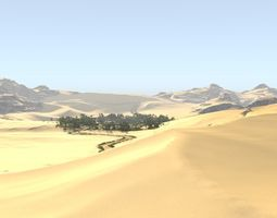 3D model Oasis along the way in Blender