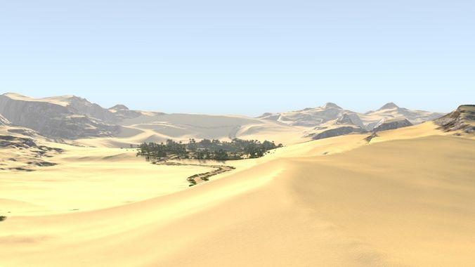 oasis along the way in blender 3d model blend 1