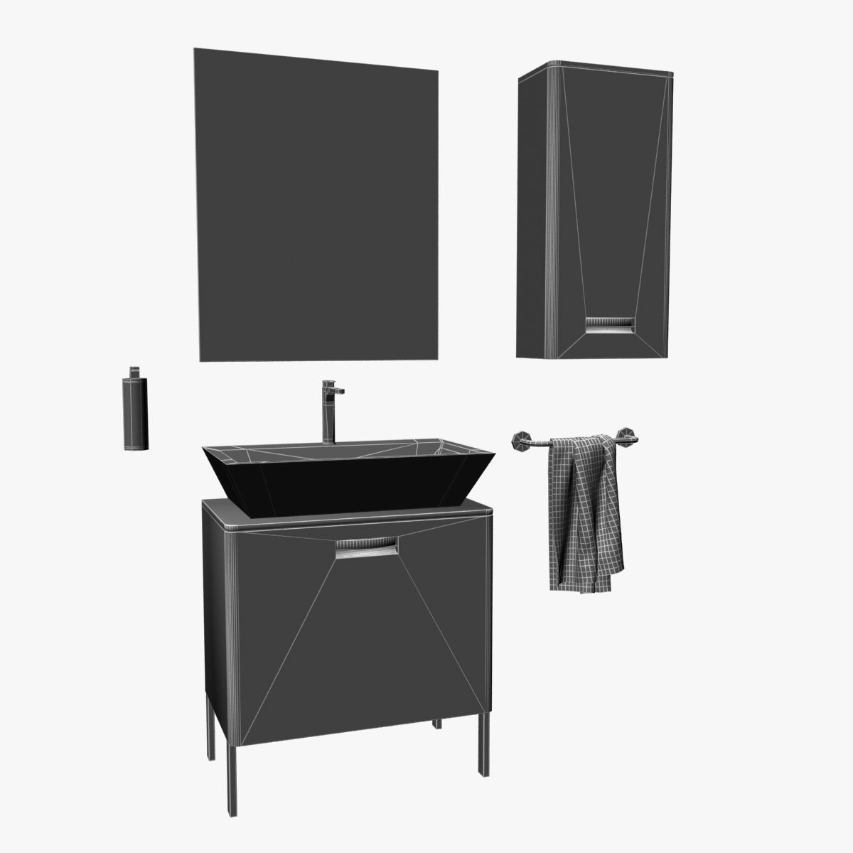 Roca Gap Bathroom Furniture Set 3D | CGTrader