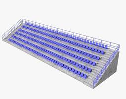 3D model Grandstand Tribune