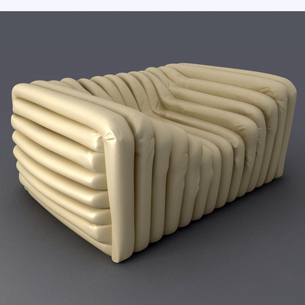 versace bubble sofa 3d model max obj 3ds fbx mtl 3