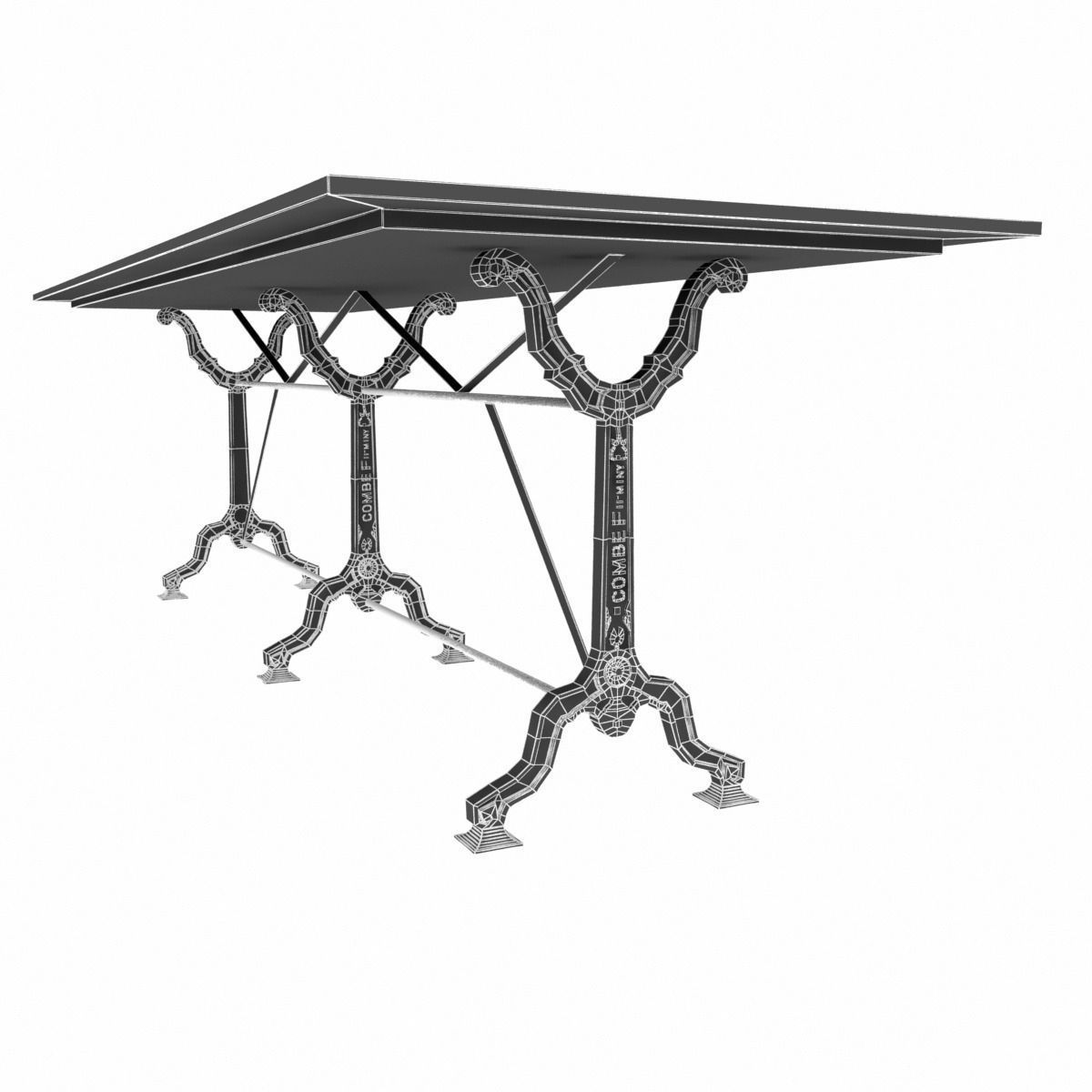 Restoration Hardware Factory Zinc Cast Iron Dining Tables  : restoration hardware factory zinc cast iron dining tables 3d model max obj fbx from www.cgtrader.com size 1200 x 1200 jpeg 72kB