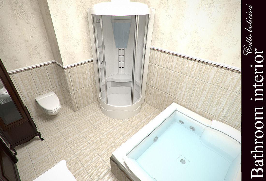 Cotto boticini bathroom 3d model max for Bathroom models images