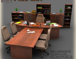 3D asset Office Set