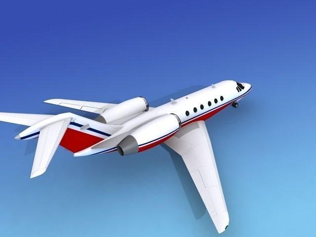 Cessna Citation X V11 3D Model Rigged MAX OBJ 3DS DXF DWG W3D