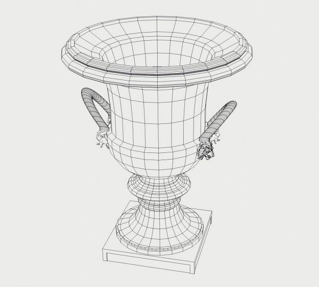 Roman Garden Vase 3d Model 3ds Dxf Dae Skp Cgtrader Com