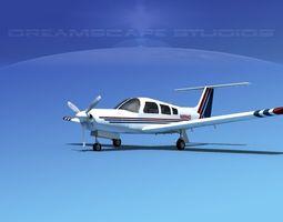 3d model rigged piper pa-28r-201 arrow iii v11