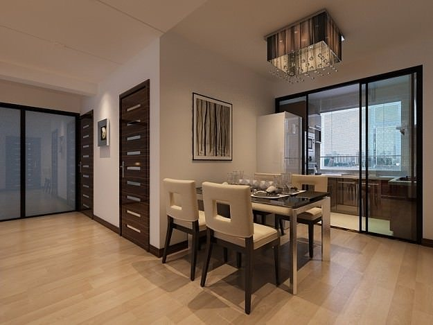 Living And Dining Room 01 3d Model Max 4