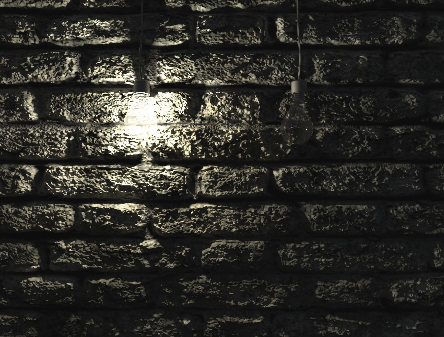 Brick Wall Light: ... light bulb on brick wall 3d model max 3 ...,Lighting