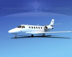 Cessna Citation 560XL White Livery 3D model