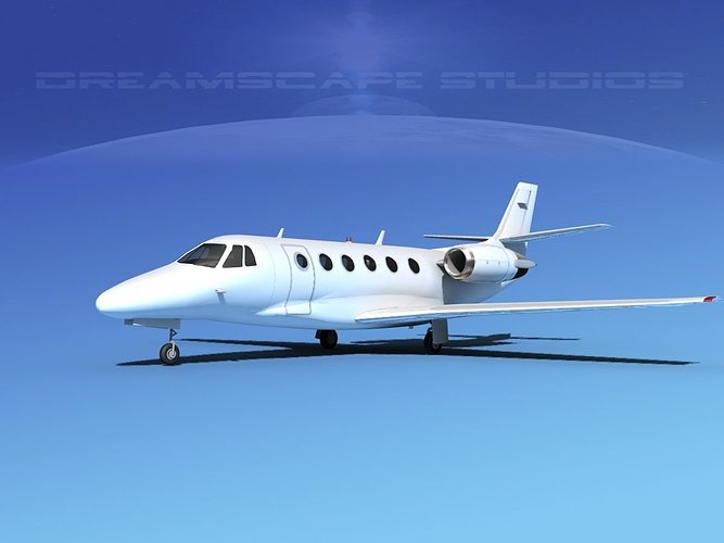 cessna citation 560xl white livery 3d model max obj 3ds lwo lw lws dxf dae 1