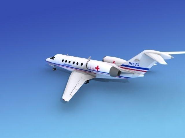 Cessna Citation X Life Flight 3D Model Rigged MAX OBJ 3DS DXF DWG W3D