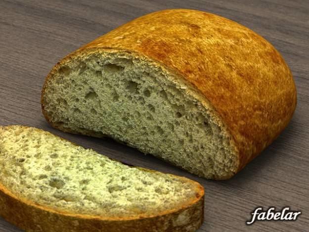 long loaf 3d model max obj 3ds c4d mat 1