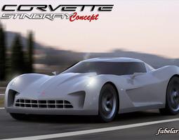 chevrolet stingray concept 3d model