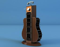 guitar dvd cd 3d model max