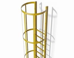 3d model safety cage ladder