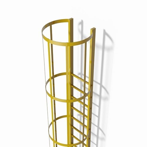 Safety Cage Ladder 3d Cgtrader