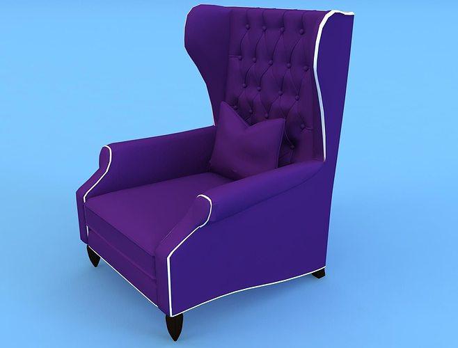 christopher guy  armchair - 60-0305 3d model max 1