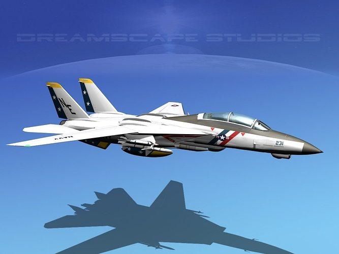 grumman f-14d tomcat t04a vf2 3d model animated max obj mtl 3ds lwo lw lws dxf stl 1