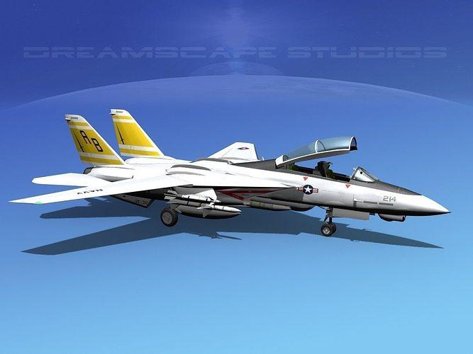 grumman f-14d tomcat t07a vf-32 3d model animated max obj mtl 3ds lwo lw lws dxf stl 1