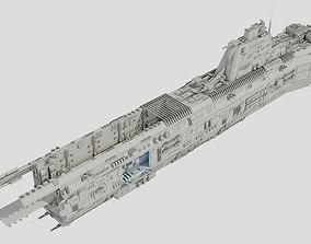 3D model Carrier Spaceship - Saratoga class