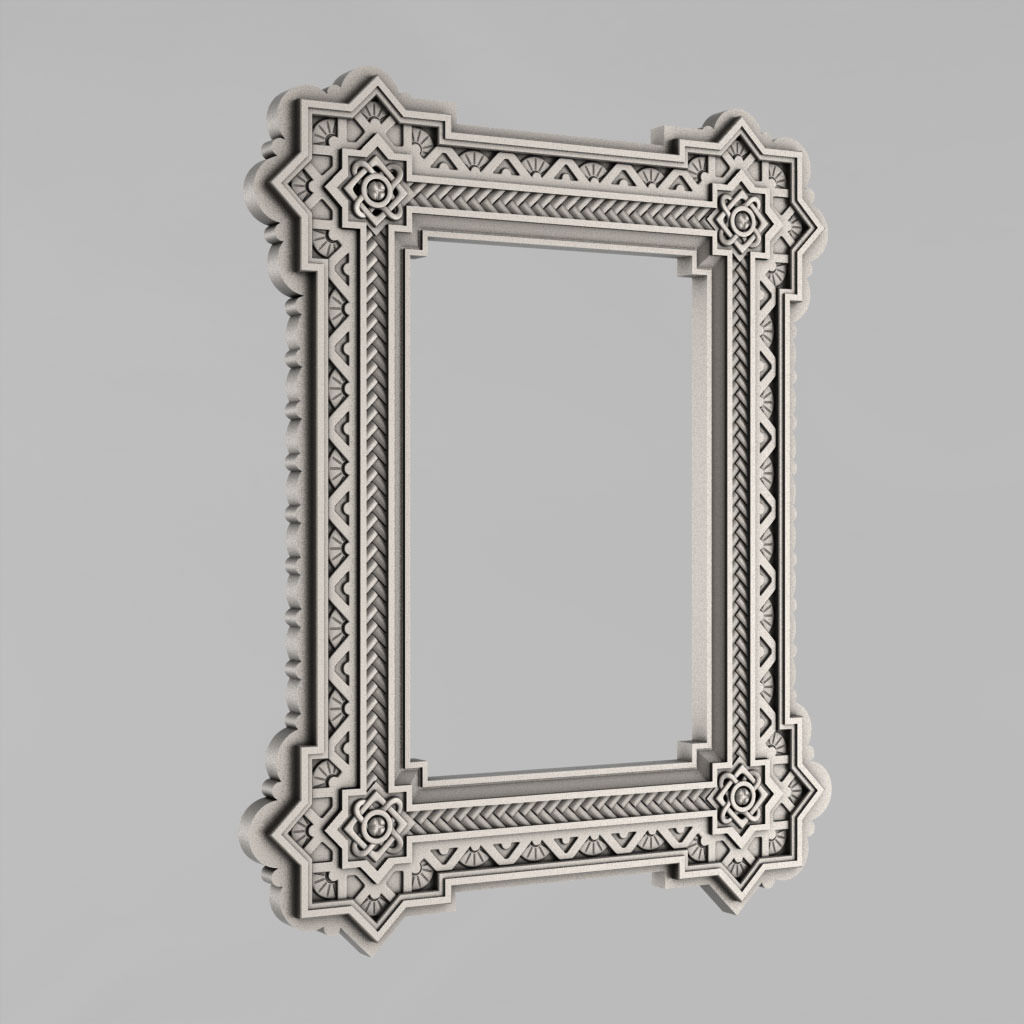 3d Print Model Frame Mirror Russia 24 Cgtrader