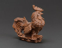 3d printable model garden rooster