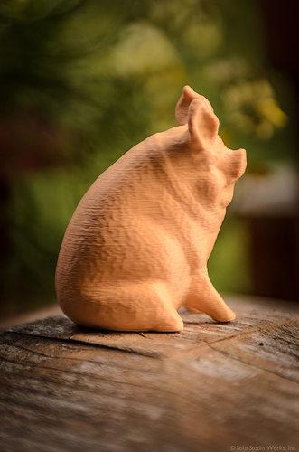 Garden Pig free 3D Model 3D printable