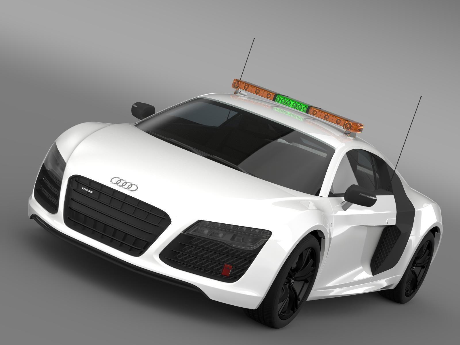 D Audi R Vplus Safety Car CGTrader - Audi car 3d