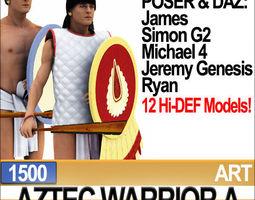 3D Aztec Warrior A 1500