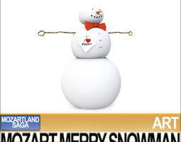 mozart merry snowman 3d
