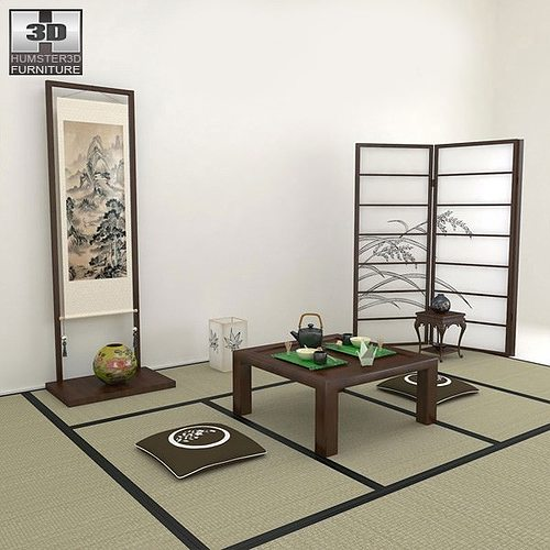 Japanese Tea Room 3d Model Cgtrader